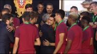 Marcelo imita José Gomes e jogadores dançam em Belém