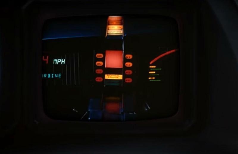 O «K.I.T.T.» da série «Knight Rider» - reprodução YouTube da «NBC CLassics»
