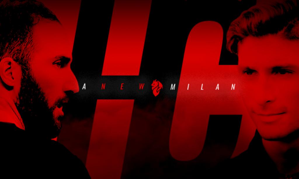 Higuaín e Caldara (site oficial Milan)