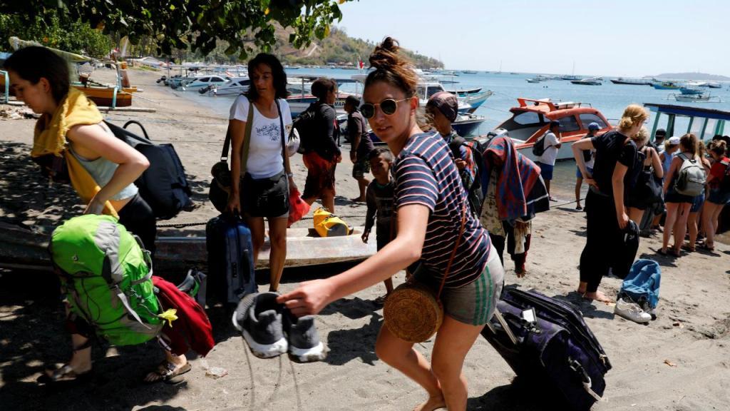 Sismo na ilha de Lombok, na Indonésia