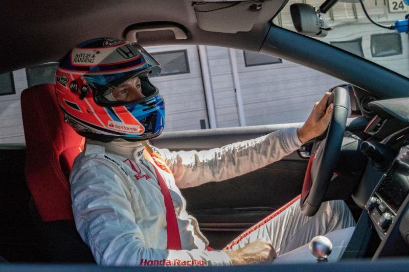 Jenson Button Honda Civic Type R