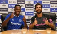 Yerry Mina e André Gomes (twitter Everton)