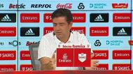 Rui Vitória e o jogo com o Fenerbahçe