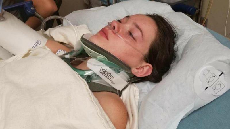 Jordan Holgerson no hospital