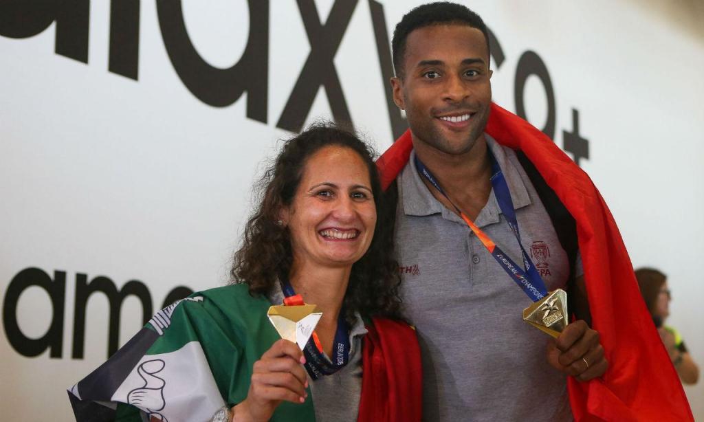 Regresso dos campeões europeus de atletismo (Manuel de Almeida/Lusa)