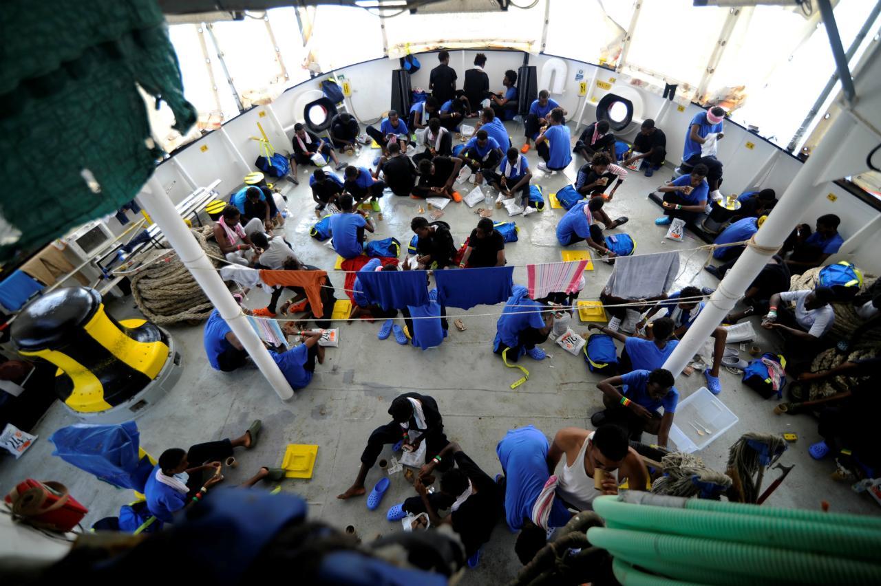 Navio Aquarius - Refugiados