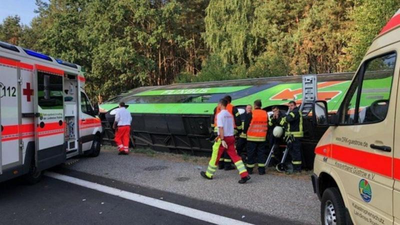 Despiste de autocarro na Alemanha
