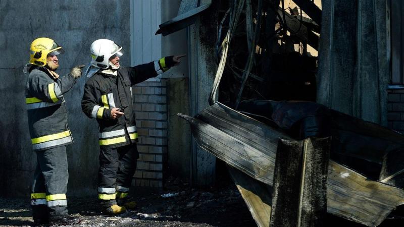 Incêndio em fábrica na Maia