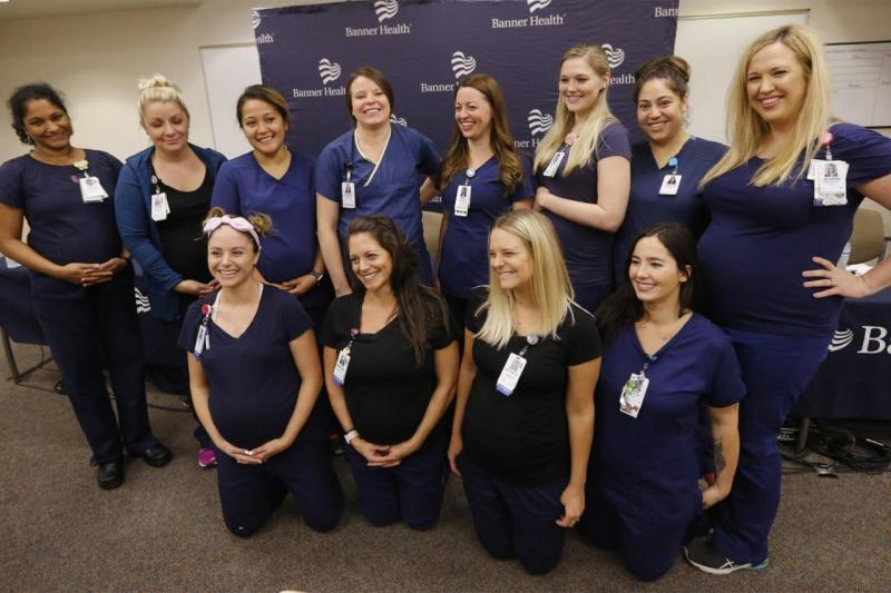 16 enfermeiras grávidas no Hospital Banner Desert, no Arizona