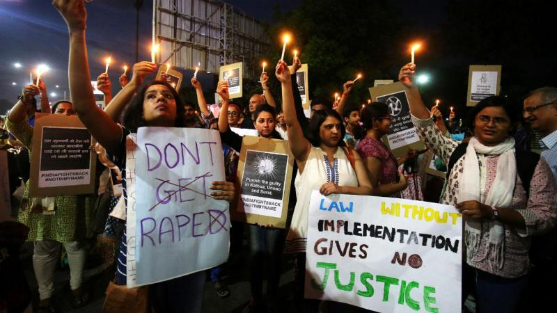 Manifestação contra a violação na Índia
