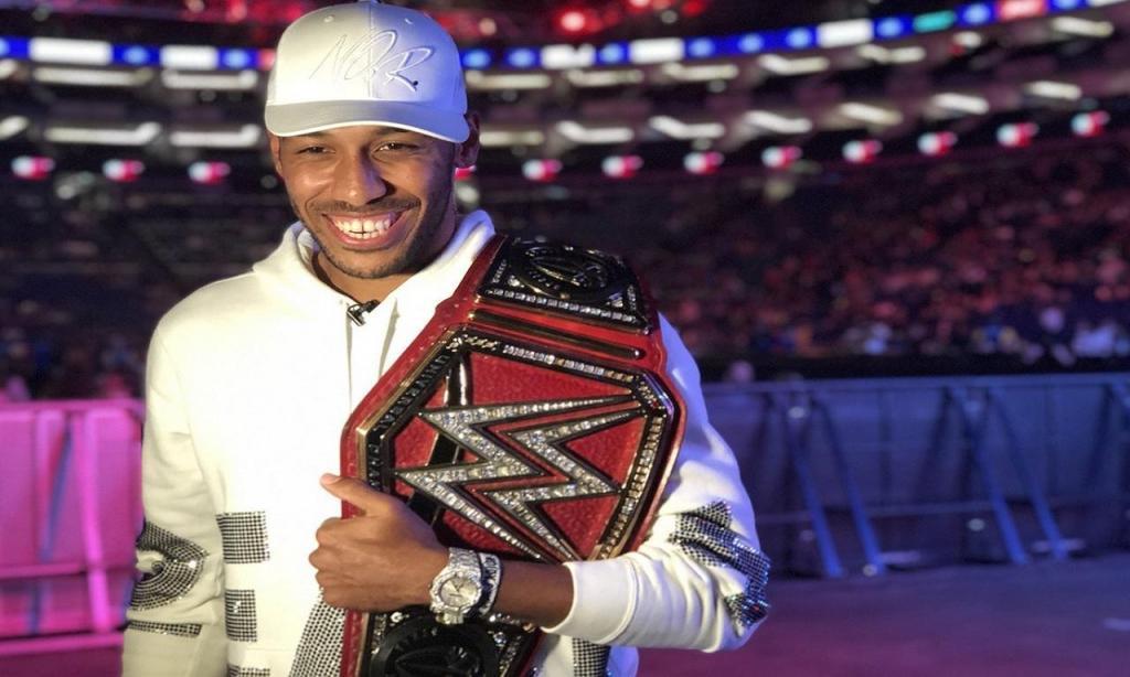 Aubameyang na WWE (Foto: WWE)