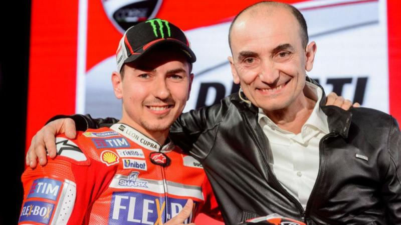 Jorge Lorenzo e Claudio Domenicali