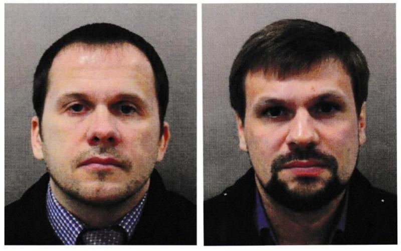 Alexander Petrov e Ruslan Boshirov - acusados de envenenamento do espião russo Sergei Skripal e da filha Yuilia