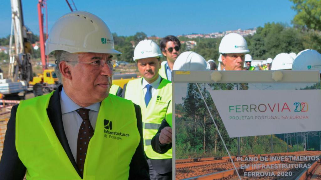 António Costa visita obras ferroviárias na Guarda