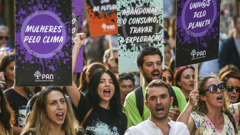 Marcha em Lisboa em defesa do clima