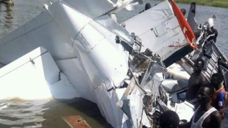 Avião cai no Sudão do Sul