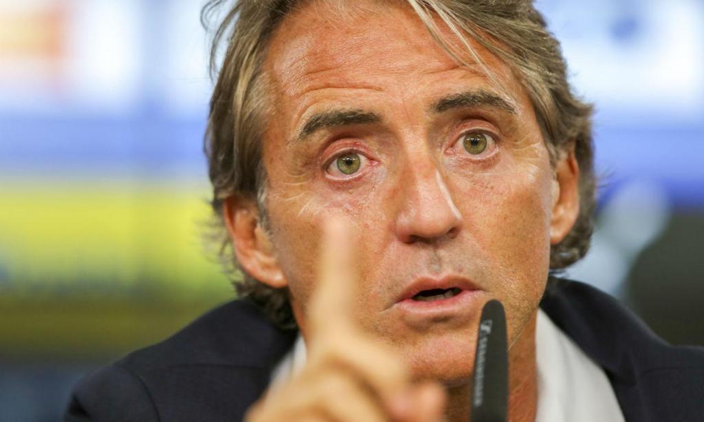 Conferência de imprensa Itália - Mancini (Lusa)