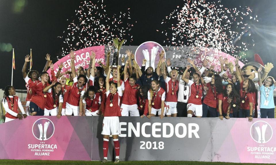 Sp. Braga defronta PSG na Liga dos Campeões feminina