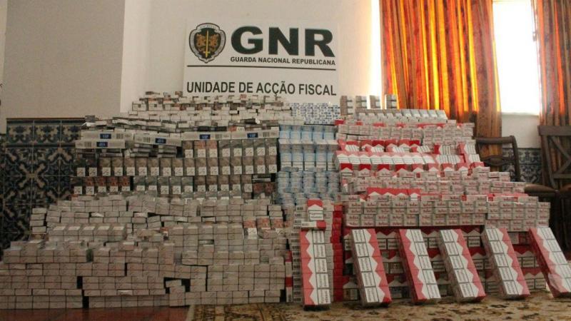 GNR apreende mais de 87 mil cigarros