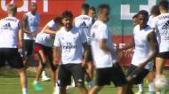 Jonas faz trabalho de reintegração no Benfica