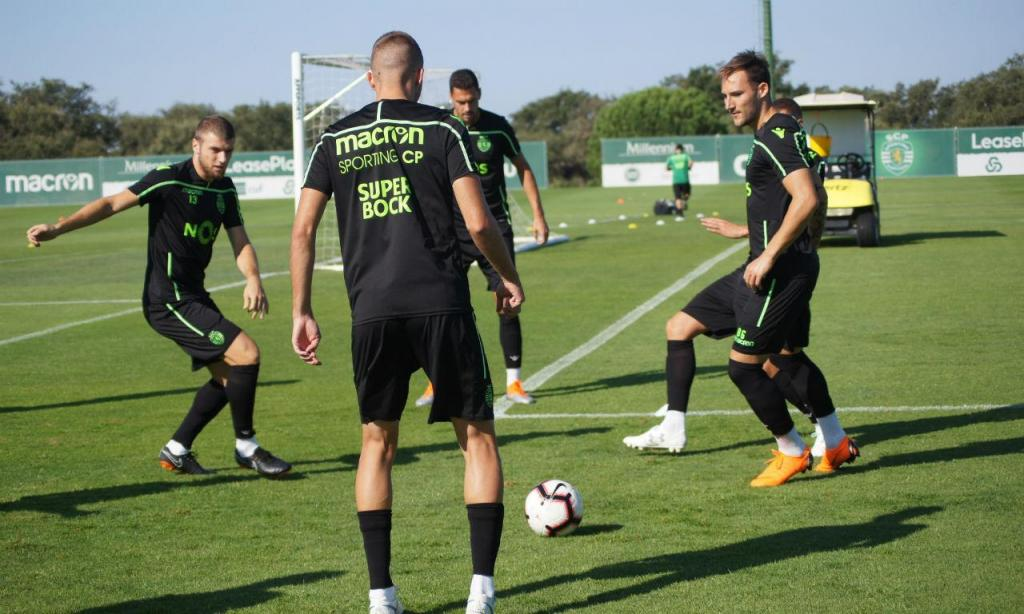 Treino do Sporting (fotos: Sporting CP)