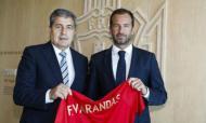 Frederico Varandas recebido na Cidade do Futebol (foto: FPF)