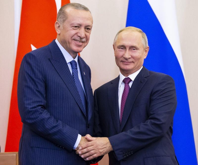 Tayyip Erdogan e Vladimir Putin