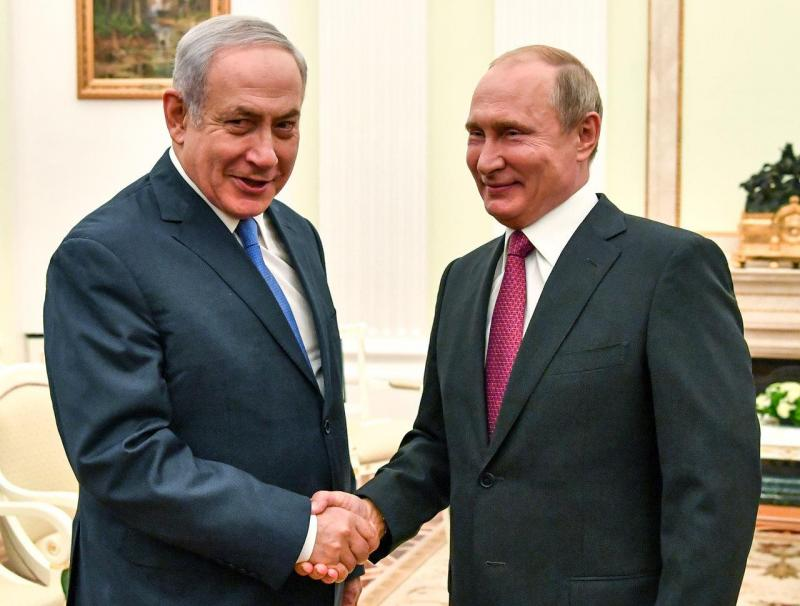 Benjamin Netanyahu e Vladimir Putin