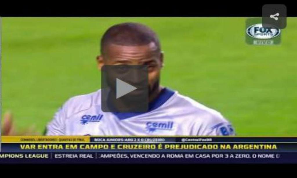 Expulsão no Boca Juniors-Cruzeiro (youtube)