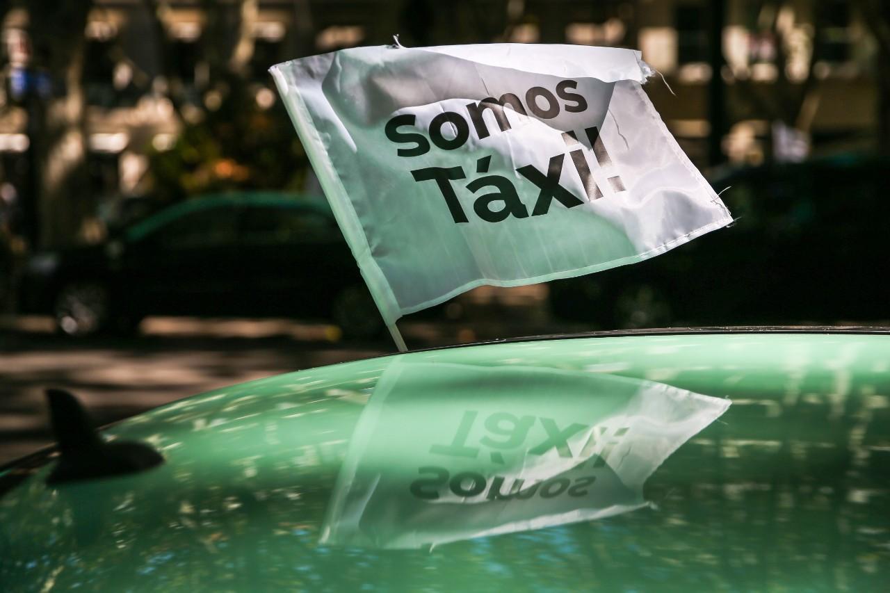 Protesto de taxistas em Lisboa
