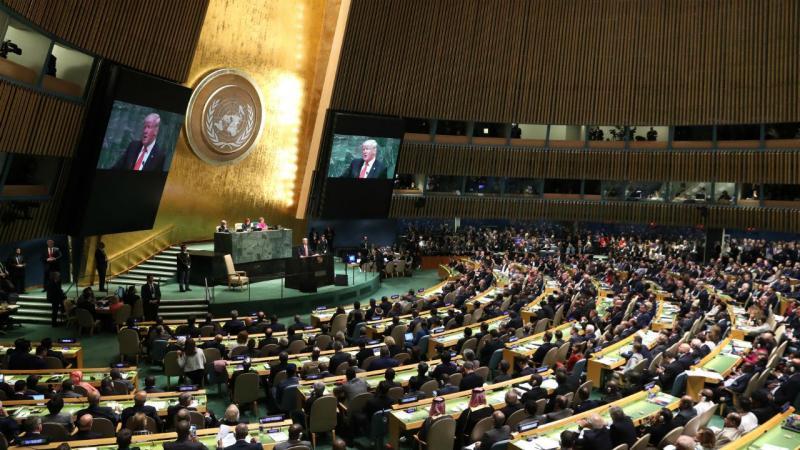 Presidente Donald Trump discursa na Assembleia Geral da ONU, em Nova Iorque
