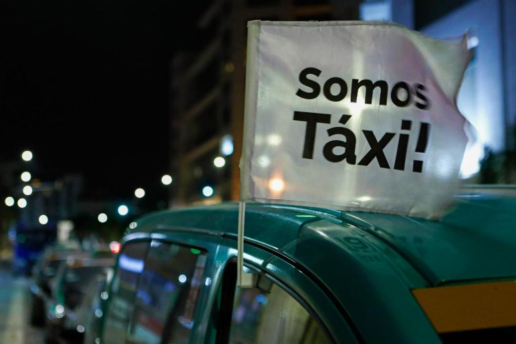 Taxistas - manifestação