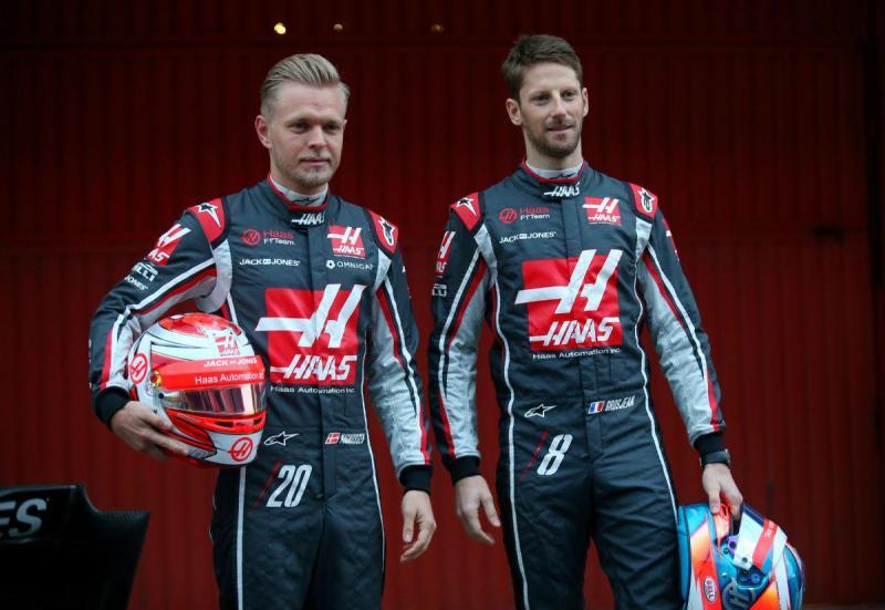 Kevin Magnussen e Romain Grosjean (Reuters)