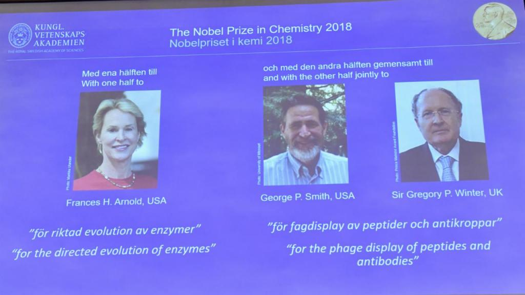 Nobel da Química 2018