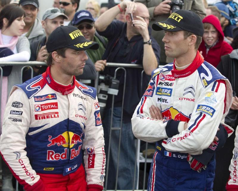 Sébastien Loeb e Sébastien Ogier (Reuters)