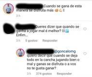 Acuña responde a adepto no Instagram