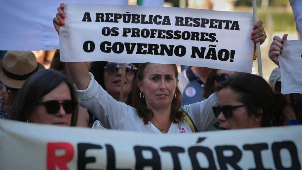Professores nas ruas de Lisboa pela contagem integral do tempo de serviço