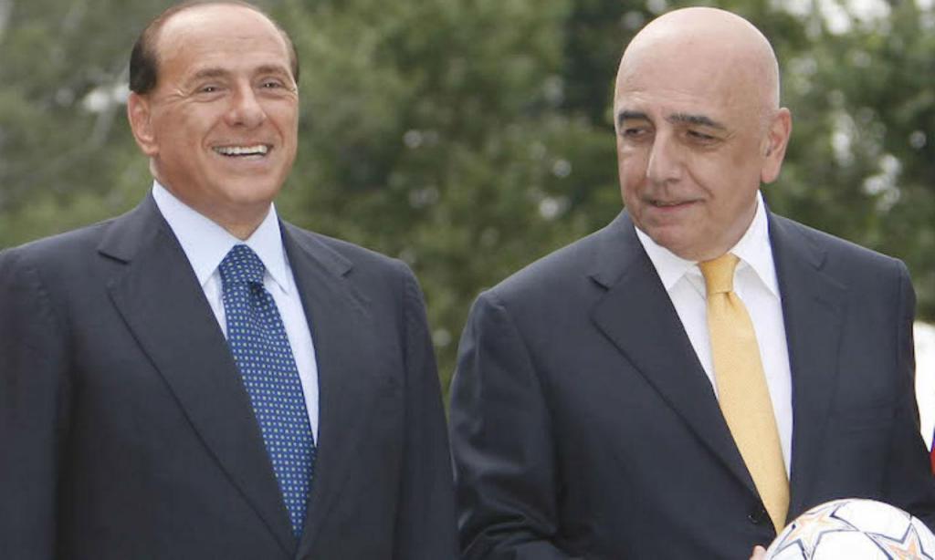 Silvio Berlusconi com Adriano Galliani