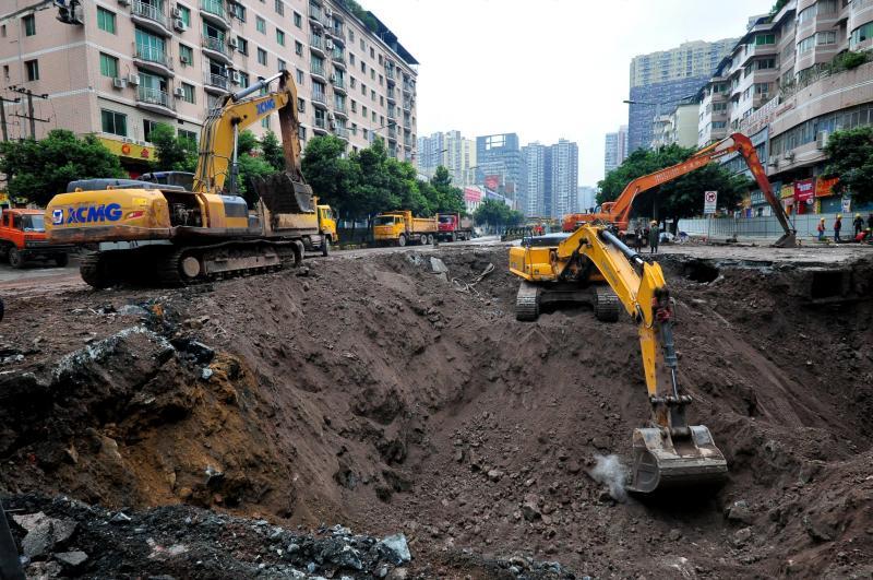 Buraco em Dazhou - província de Sichuan (China)