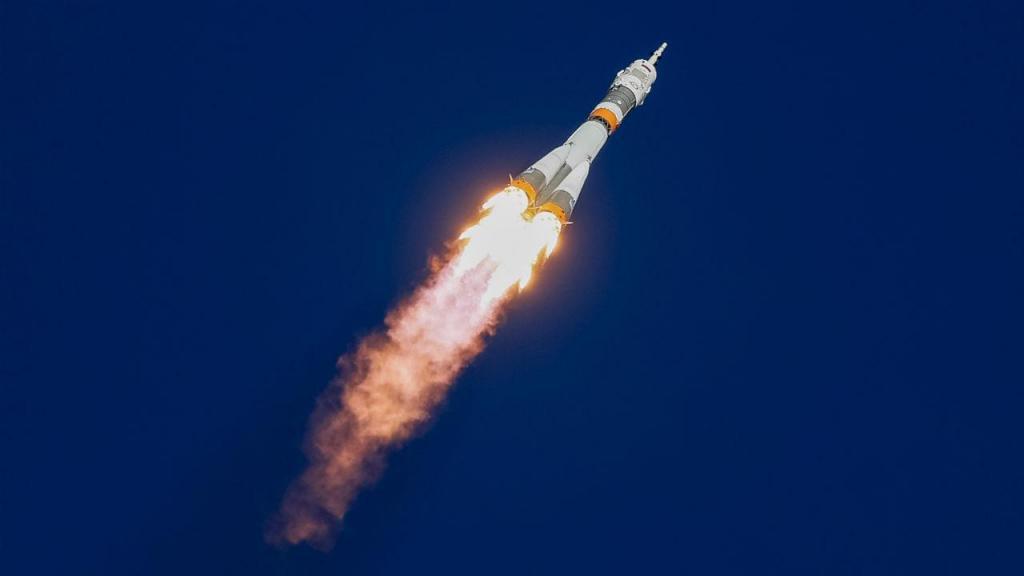 Lançamento do foguetão Soyuz