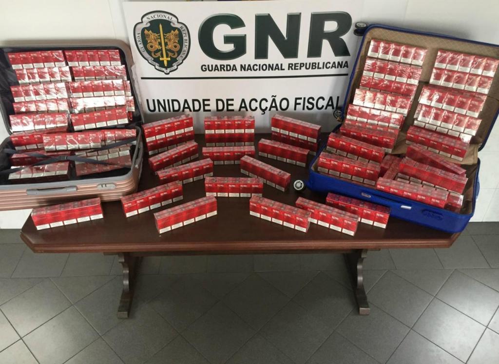 Cigarros apreendidos - GNR