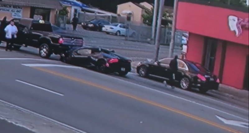 Acidente em Miami (reprodução vídeo «Local 10 ABC News»)