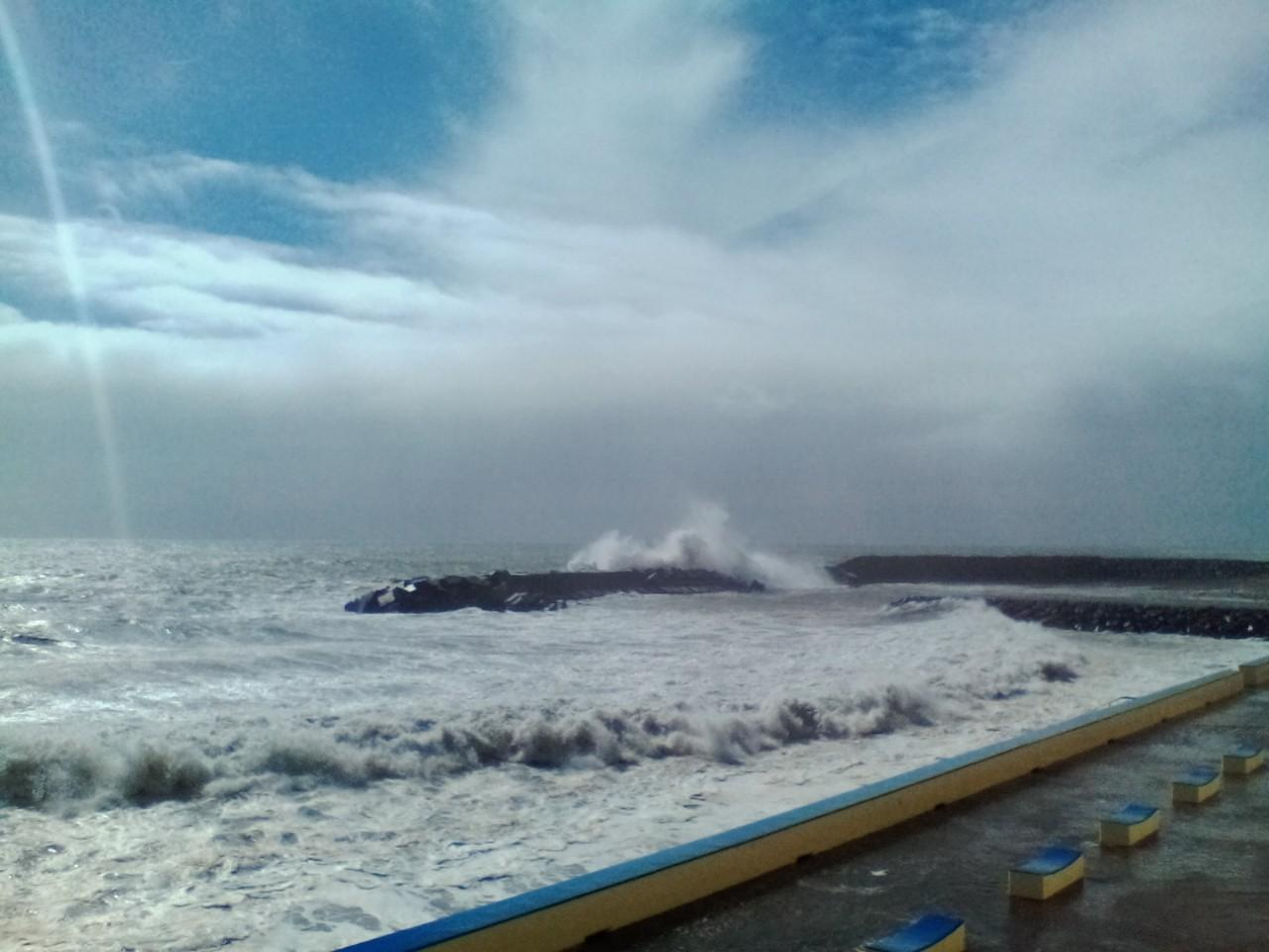 Passagem do Furacão Leslie pela Calheta, na Madeira