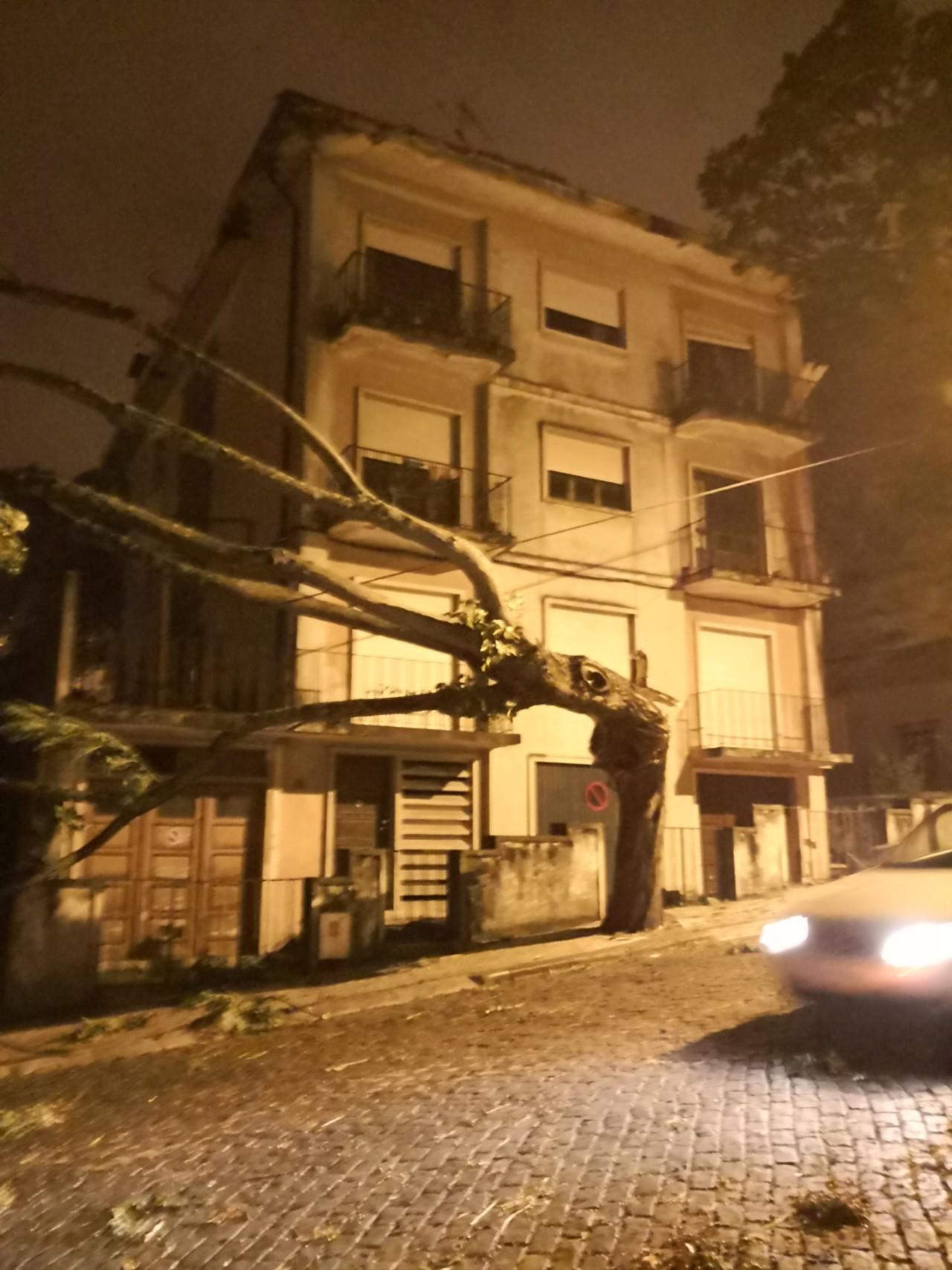 Passagem do Furacão Leslie por Coimbra