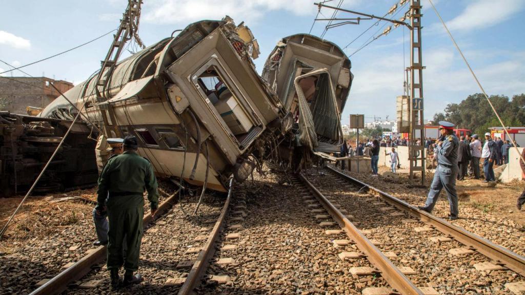 Descarrilamento de comboio em Marrocos