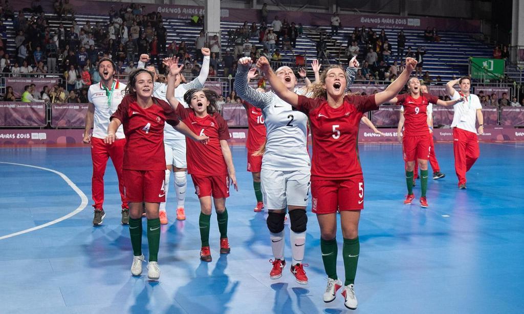 Portugal é campeã feminina de futsal
