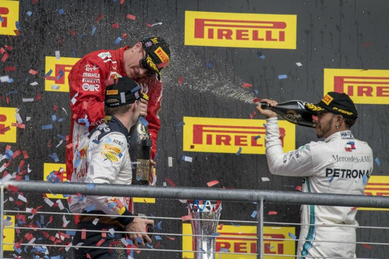 Raikkonen, Verstappen e Hamilton (Reuters)