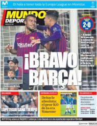 Mundo Deportivo desta quinta-feira