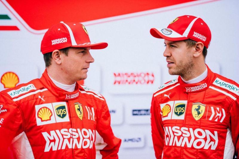 Raikkonen e Vettel (Ferrari)