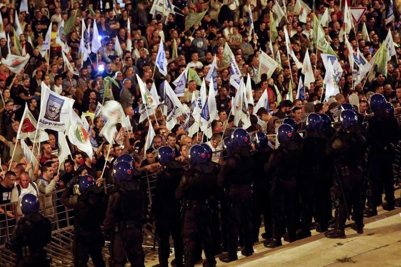 Manifestação de polícias
